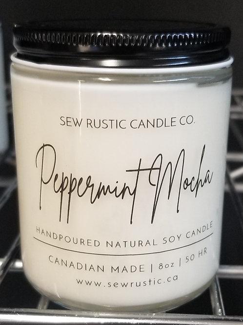 Sew Rustic 8oz. Peppermint Mocha Candle