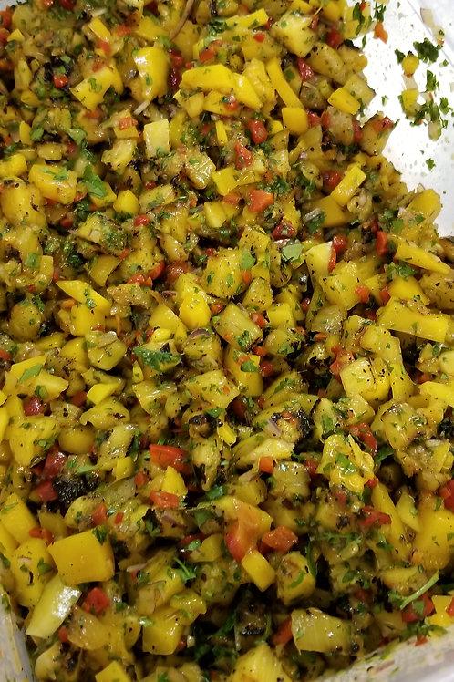 Charred pineapple, mango salsa (Lg)