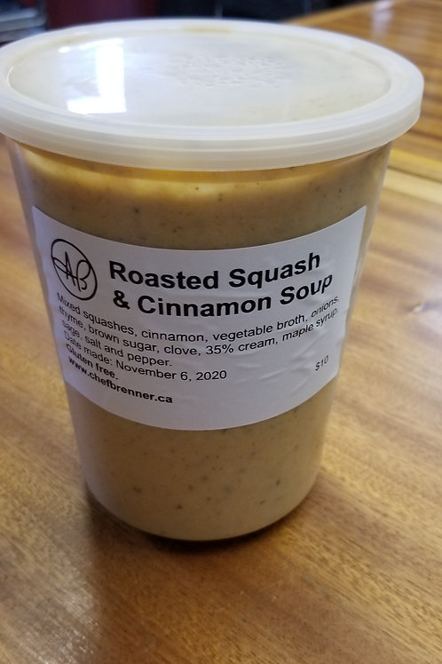 Roasted Squash & Cinnamon Soup (lg)