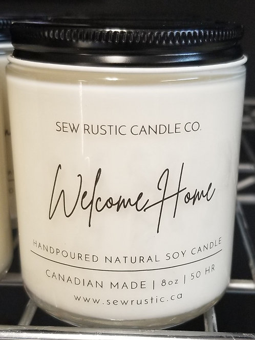 Sew Rustic 8oz. Welcome Home Candle