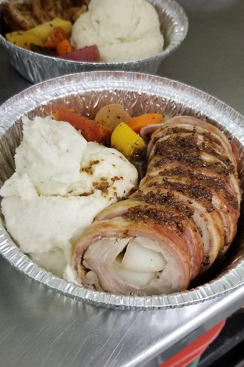 Bacon Wrapped Pork Tenderloin Dinner (sm)