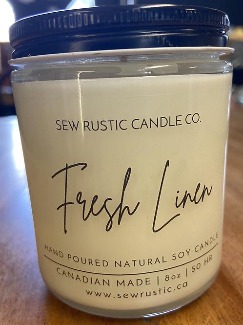 Sew Rustic 8 oz. Fresh Linen Candle