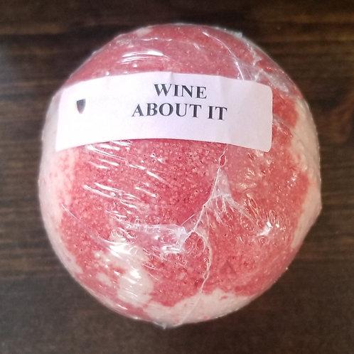 Wine About It bath bomb