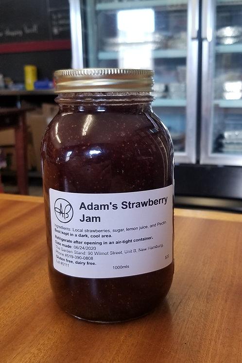 Adam's Strawberry Jam (1L)