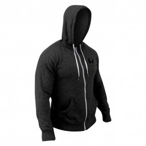 hoodies-stacked chest zip--black-stealth black-sm