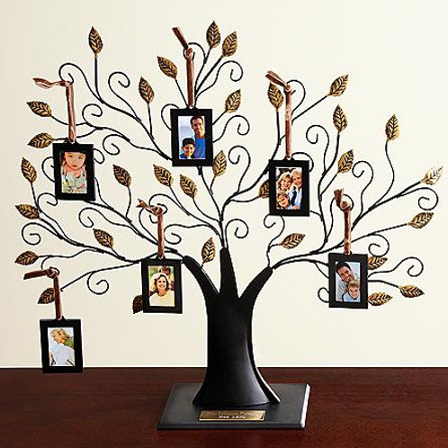 Oversized Metal Family Tree Sculpture and Frames