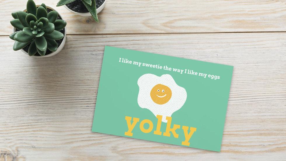 Yolky Standard Postcard
