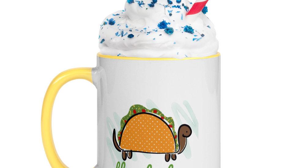 Taco Turtle Mug with Color Inside