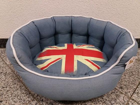 Hundebett Jeans/England Flagge 55x45 cm