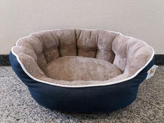 Hundebett Jeans/Plüsch 55 x 48 cm