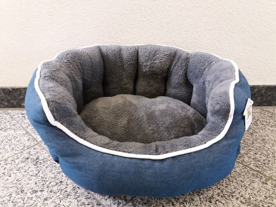 Hundebett Jeans/Plüsch 45 x 43 cm