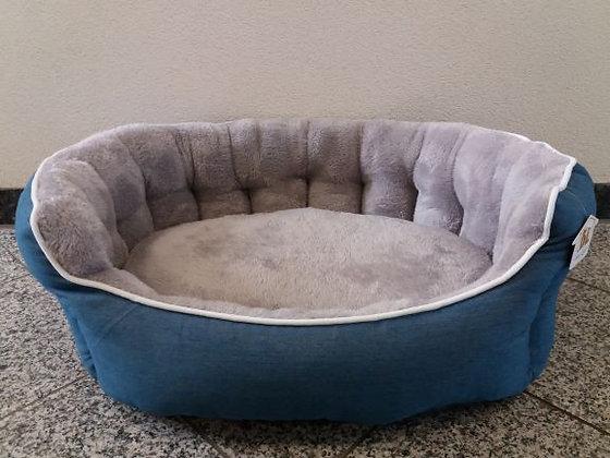 Hundebett Jeans/Plüsch 70 x 60 cm