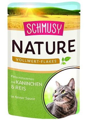 Schmusy Nature Vollwert-Flakes in feiner Sauce - 100g Portionsbeutel
