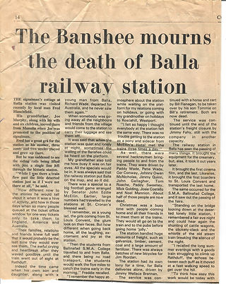 The Banshee mourns the death of Balla ra