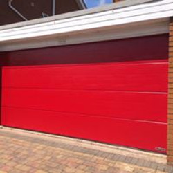 Red sectional Garage Leo Security Solutions