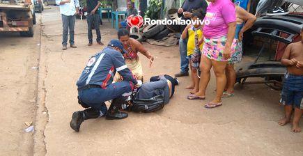Idoso foge após atropelar motociclista