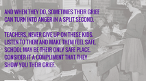 Schools, be a safe haven for grieving children