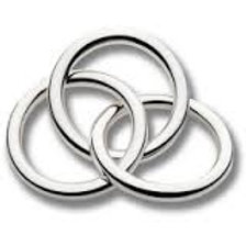 Cunill - Sterling Silver 3 Ring Rattle
