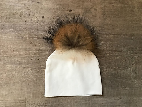 Bari Lynn - Cotton Tipped Fur Hat