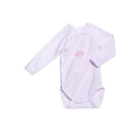 Petit Bateau Basic - Long Sleeve Crossover Onesie