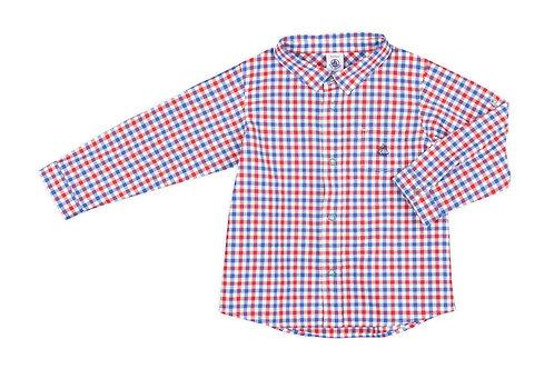 Petit Bateau - Baby Boy Long Sleeve Check Shirt