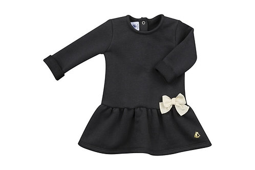Petit Bateau - Sweatshirt Dress w/Bow
