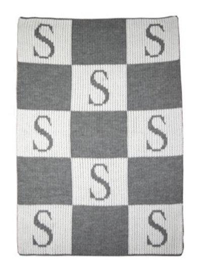 Butterscotch Blankees - Initial & Blocks Blanket