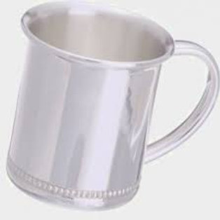 Cunill - Silver Plate Bead Trim Baby Cup