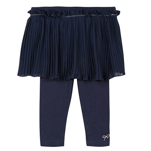 Lili Gaufrette - leggings w/pleated skirt