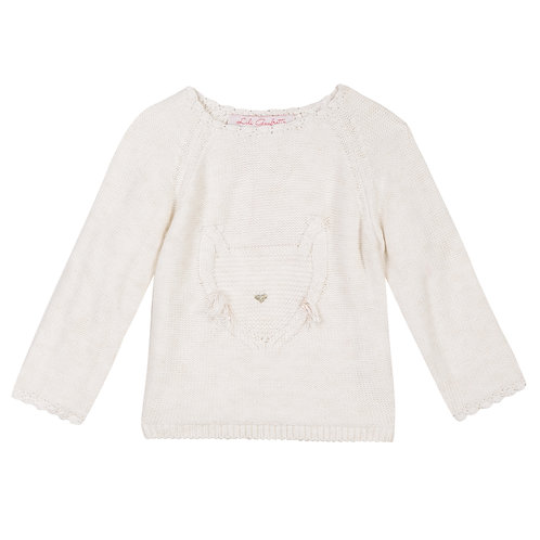 Lili Gaufrette - Knit Sweater w/Cat