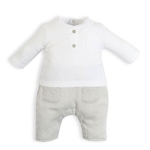 Laranjinha - Long Sleeve Top & Dot Detail Pants Combo
