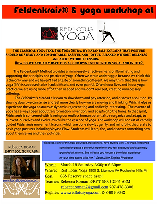 Feldenkrais & Yoga Workshop