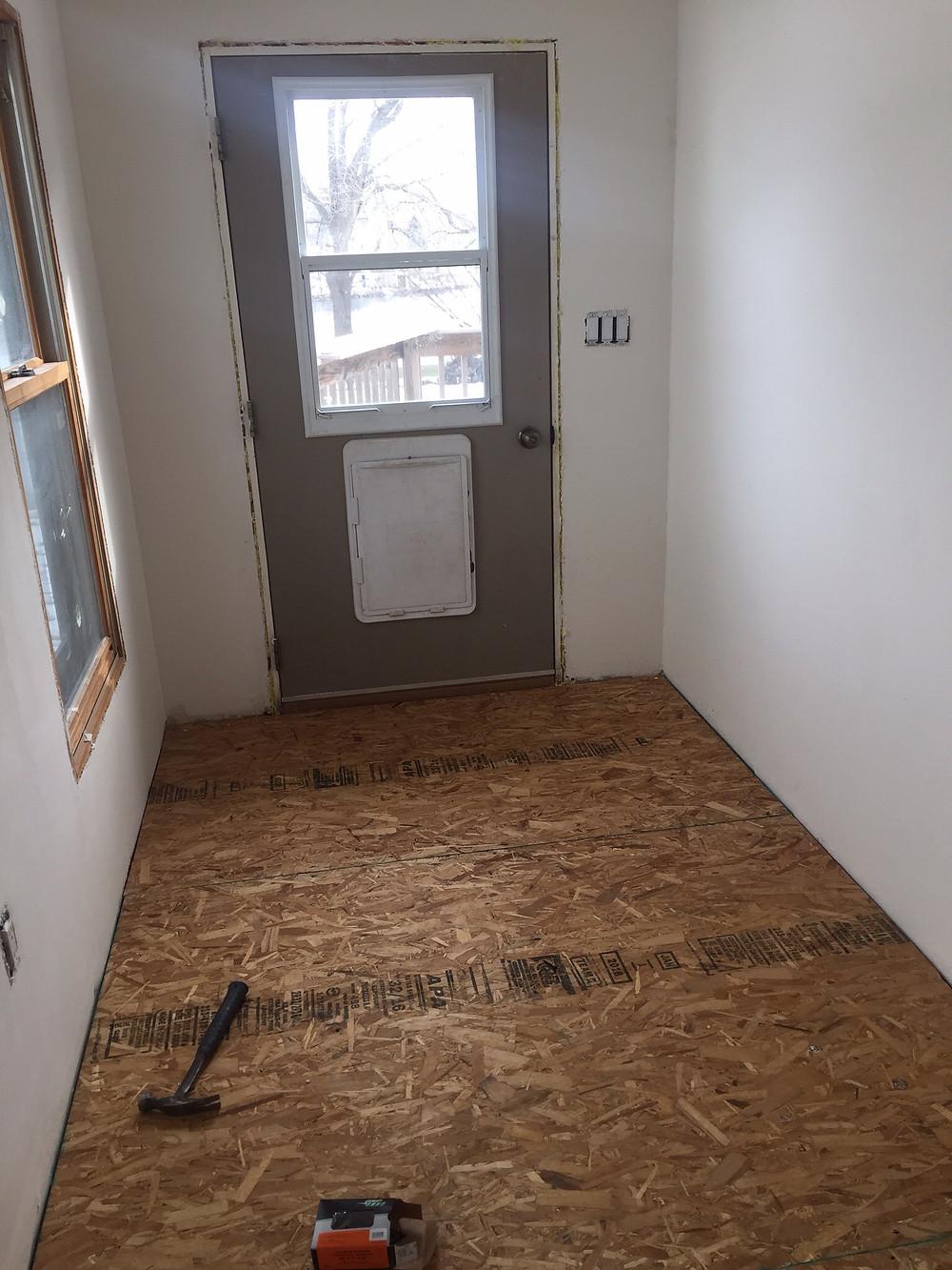 Subfloor in DIY home renovation