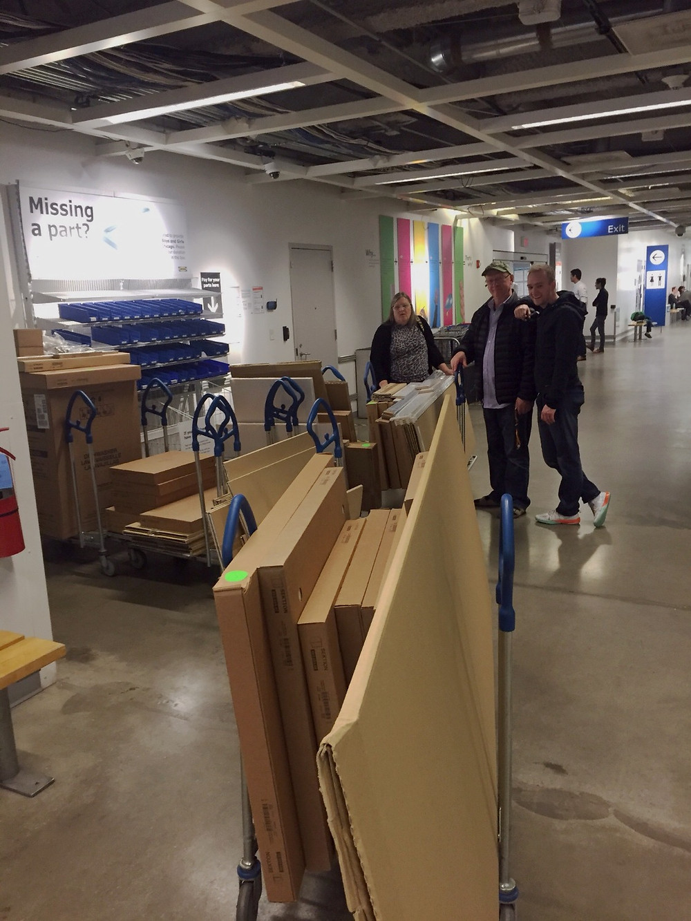 IKEA kitchen in store pick up for DIY home renovation