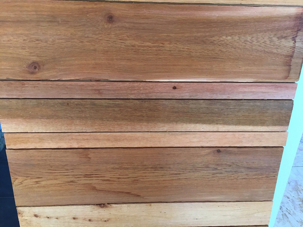DIY custom cedar barn door in home renovation