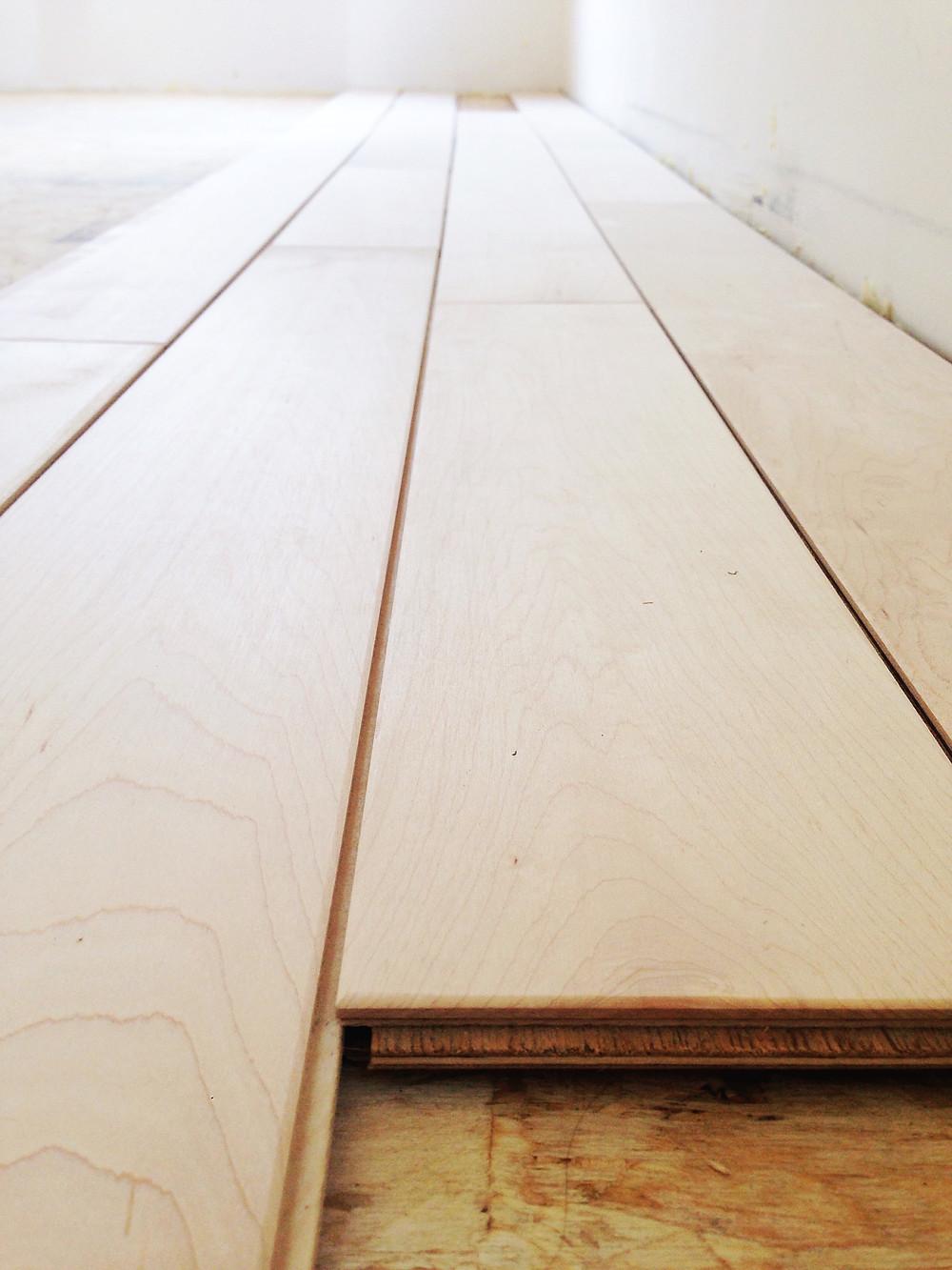 Engineered maple hardwood