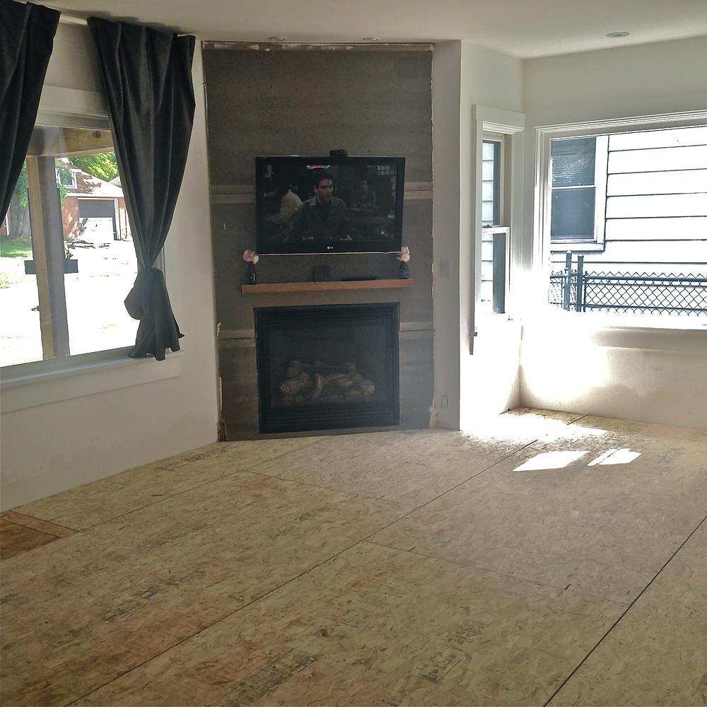 Floors prepped for hardwood installation