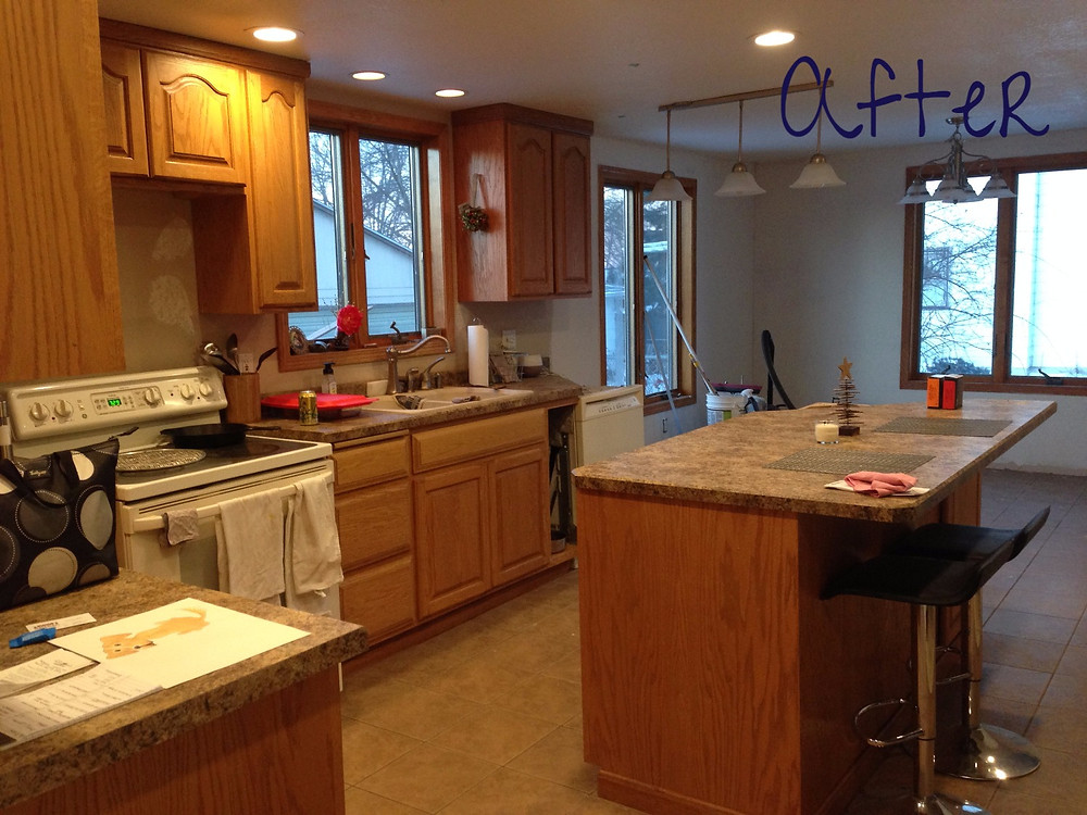 Kitchen layout in DIY home renovation