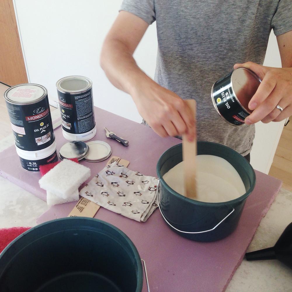 Preparing Rubio Monocoat floor finish