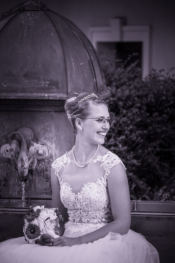 Hochzeitsfoto mit einer Braut in Kärnten