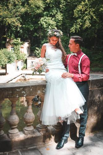 Brautpaar auf Hochzeitsfoto von Capmore