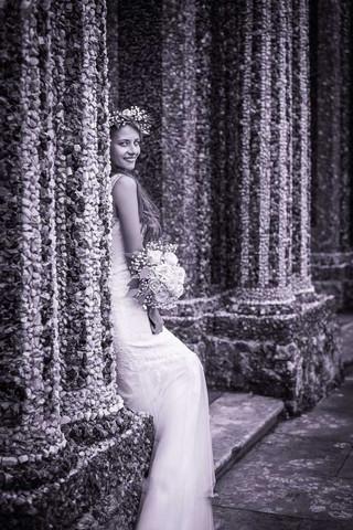 Hochzeitsfoto einer Braut mit Brautkleid