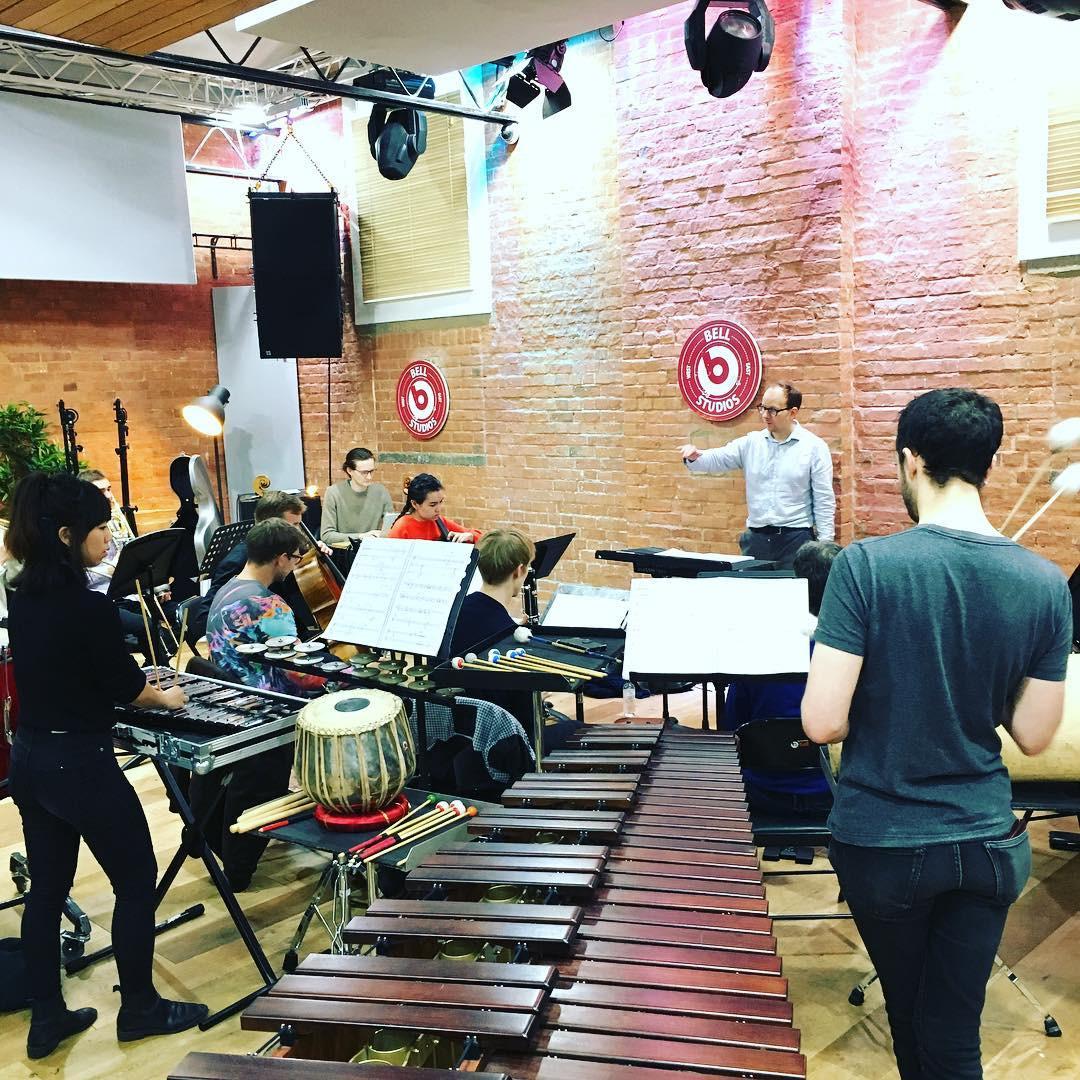Rehearsing with Explore Ensemble and EXAUDI Vocal Ensemble
