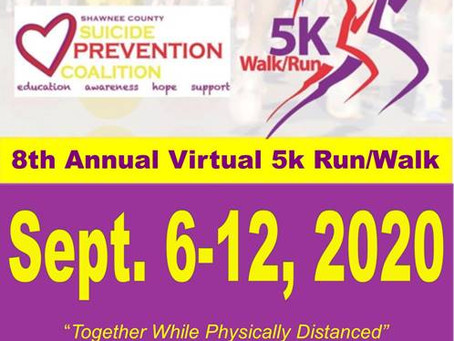 Join the Shawnee County Suicide Prevention Coalition Virtual 5K Run / Walk