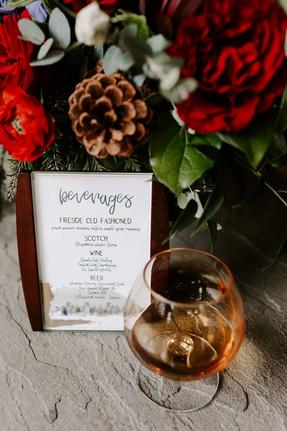 Winter Wedding Shoot Beverage Menu