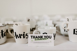 Custom Hand-Lettered Mugs