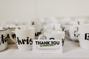 Custom Hand-Lettered Mugs
