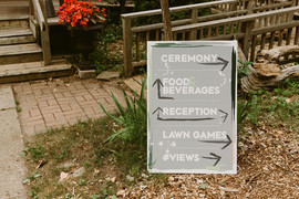 Brunch Wedding Directional Sign