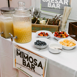 Brunch Wedding Mimosa & Caesar Bar