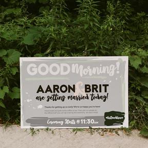 Brunch Wedding Welcome Sign